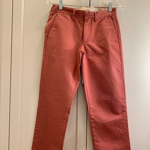 J Crew red pants, size 28